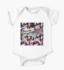Watercolor Wanderlust African Savanna Zebra in Black and White One Piece - Short Sleeve
