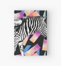 Watercolor Wanderlust African Savanna Zebra in Black and White Hardcover Journal