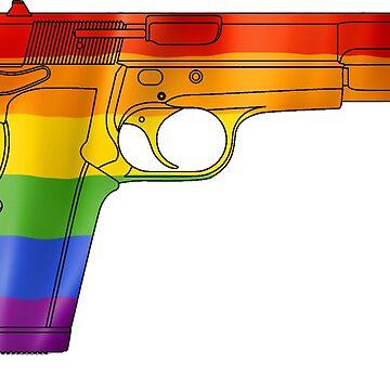 Rainbow Handgun by cstronner