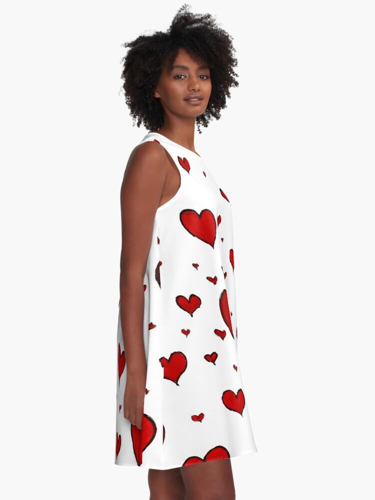 Alternate view of Valentine Heart Pattern A-Line Dress