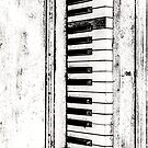 Old Piano Keyboard by Deana Greenfield