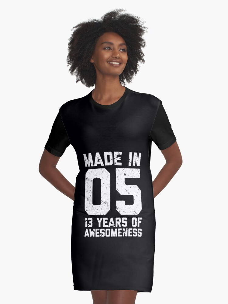 13th Birthday Gift Teens Age 13 Year Old Boy Girl Graphic T Shirt Dress By Mattlok