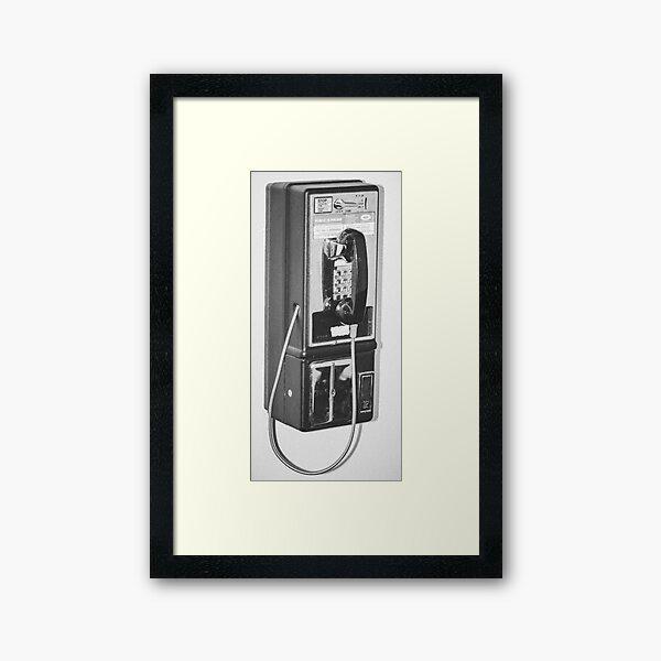 Broken Pay phone Framed Art Print