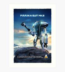 Subnautica - PRAWN Suit (Land) Art Print