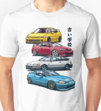 JDM Mix. Civic, CRX, Integra Slim Fit T-Shirt