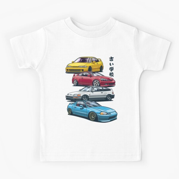 JDM Mix. Civic, CRX, Integra Kids T-Shirt
