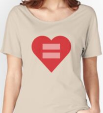 Equal Love Heart Women's Relaxed Fit T-Shirt