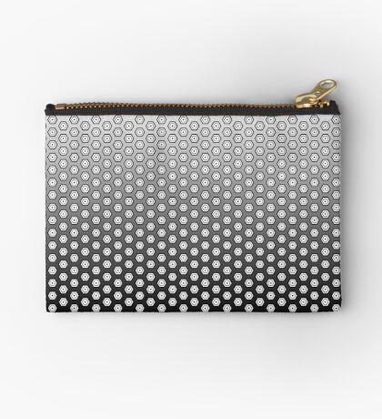 Hexagonal Turtle Pattern Black & White 002 Zipper Pouch
