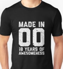 18th Birthday Gift Adult Age 18 Year Old Men Women Unisex T-Shirt