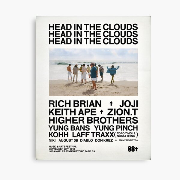 Head in the clouds 88 Rising Canvas Print