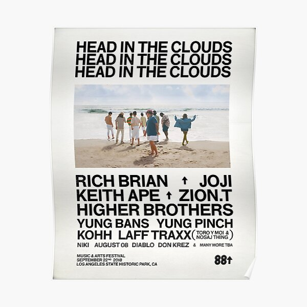 Head in the clouds 88 Rising Poster