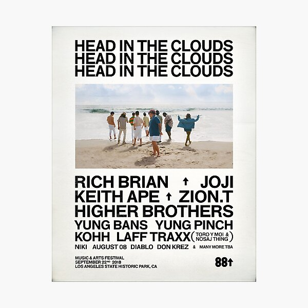 Head in the clouds 88 Rising Photographic Print
