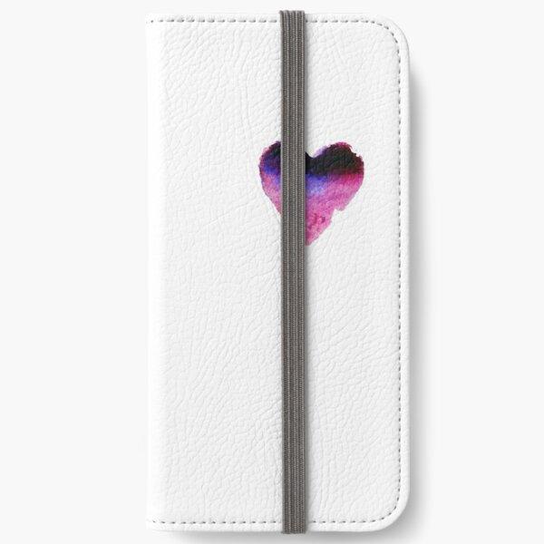Watercolor Heart iPhone Wallet