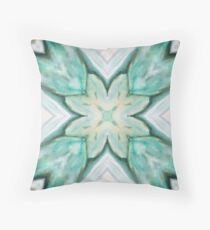 Soft Green Floral Pattern Throw Pillow