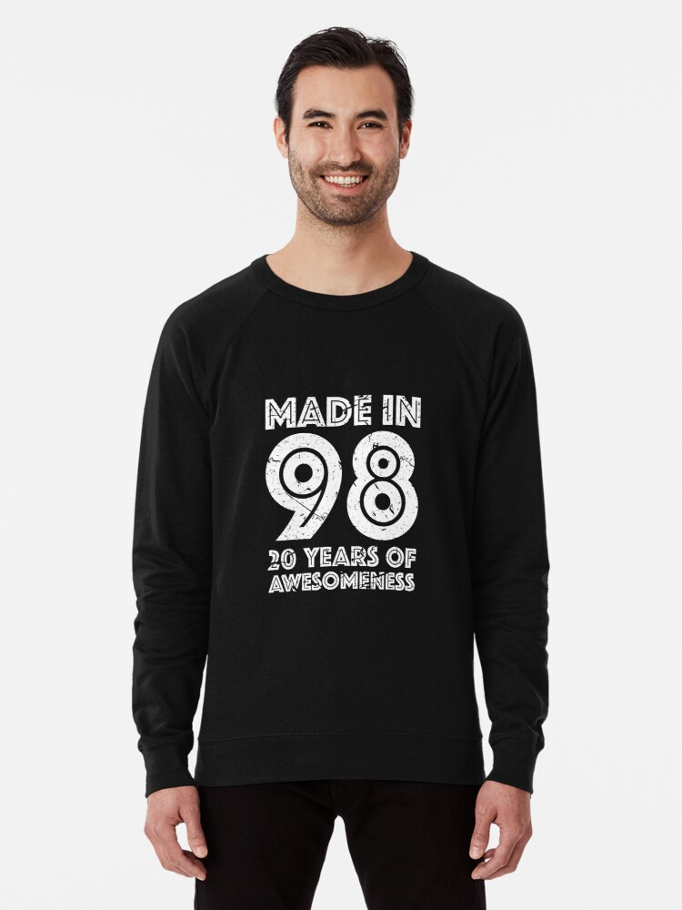 20th Birthday Gift Adult Age 20 Year Old Men Women Lightweight Sweatshirt By Mattlok