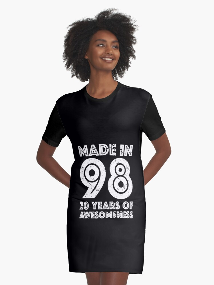 20th Birthday Gift Adult Age 20 Year Old Men Women Graphic T Shirt Dress Front