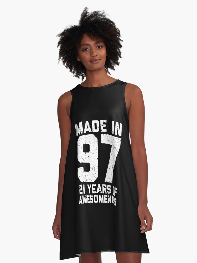 21st Birthday Gift Adult Age 21 Year Old Men Women A Line Dress By Mattlok