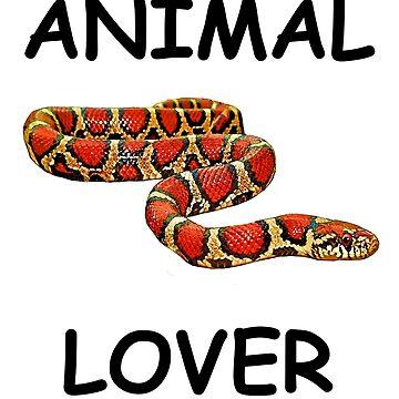 Animal Lover - Blk Lettering by FroghavenFarm
