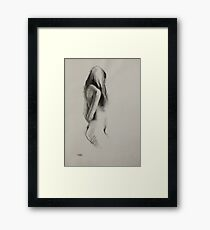 Life Drawing - Charcoal Figure Framed Print