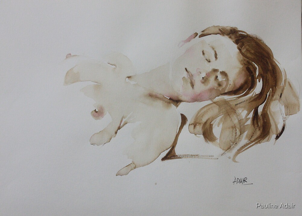 Watercolour Figure from Life by Pauline Adair