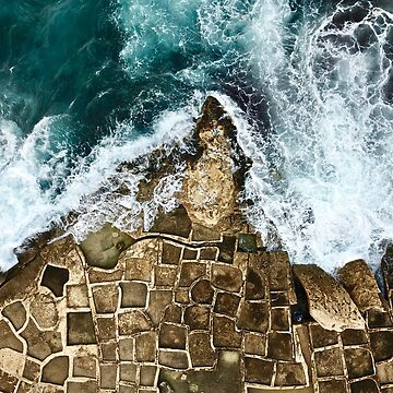 Ocean waves and Salt Pans by The-Drone-Man