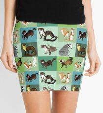 Best Nine: Mustelids of Spain Mini Skirt