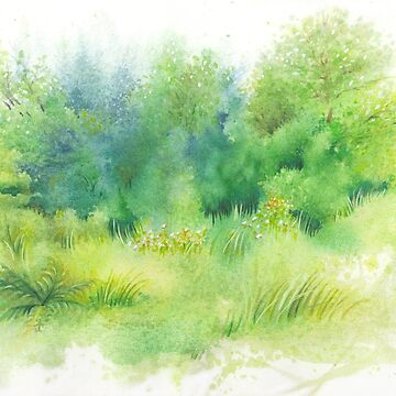 Watercolor Greenery by IvaW