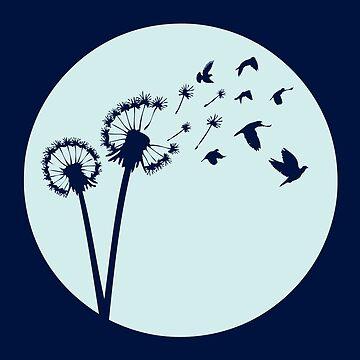 Dandelion Bird Flight by zomboy