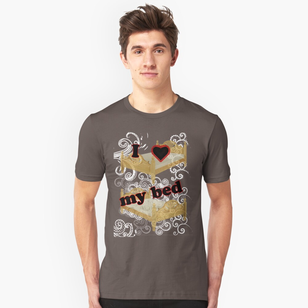 I Heart My Bed Unisex T-Shirt Front