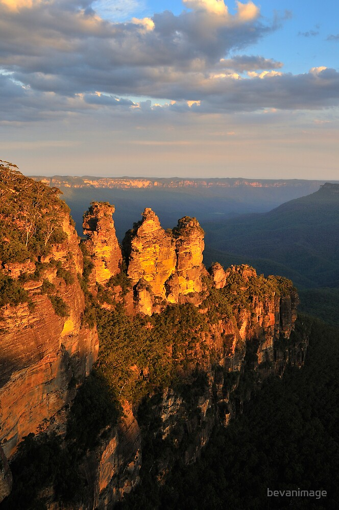 Three Sisters at sunset by bevanimage