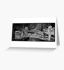Sydney Harbour Path to the Stars Greeting Card