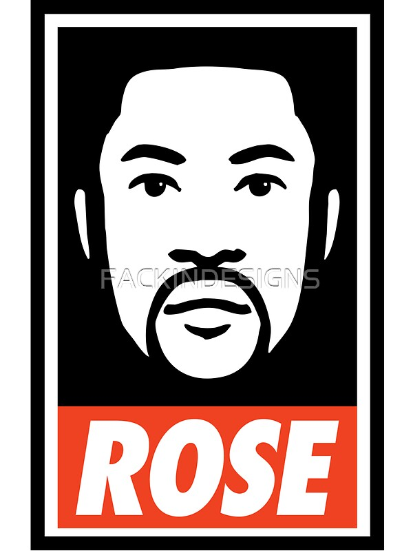 Derrick rose obey style stickers by fackindesigns redbubble derrick rose obey style by fackindesigns voltagebd Choice Image
