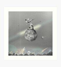 Space Football Art Print