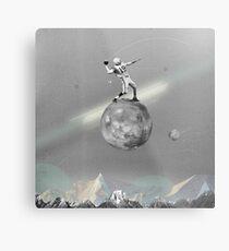 Space Football Metal Print