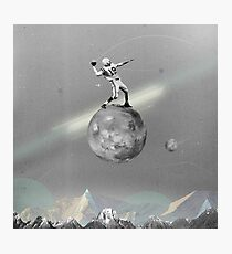Space Football Photographic Print