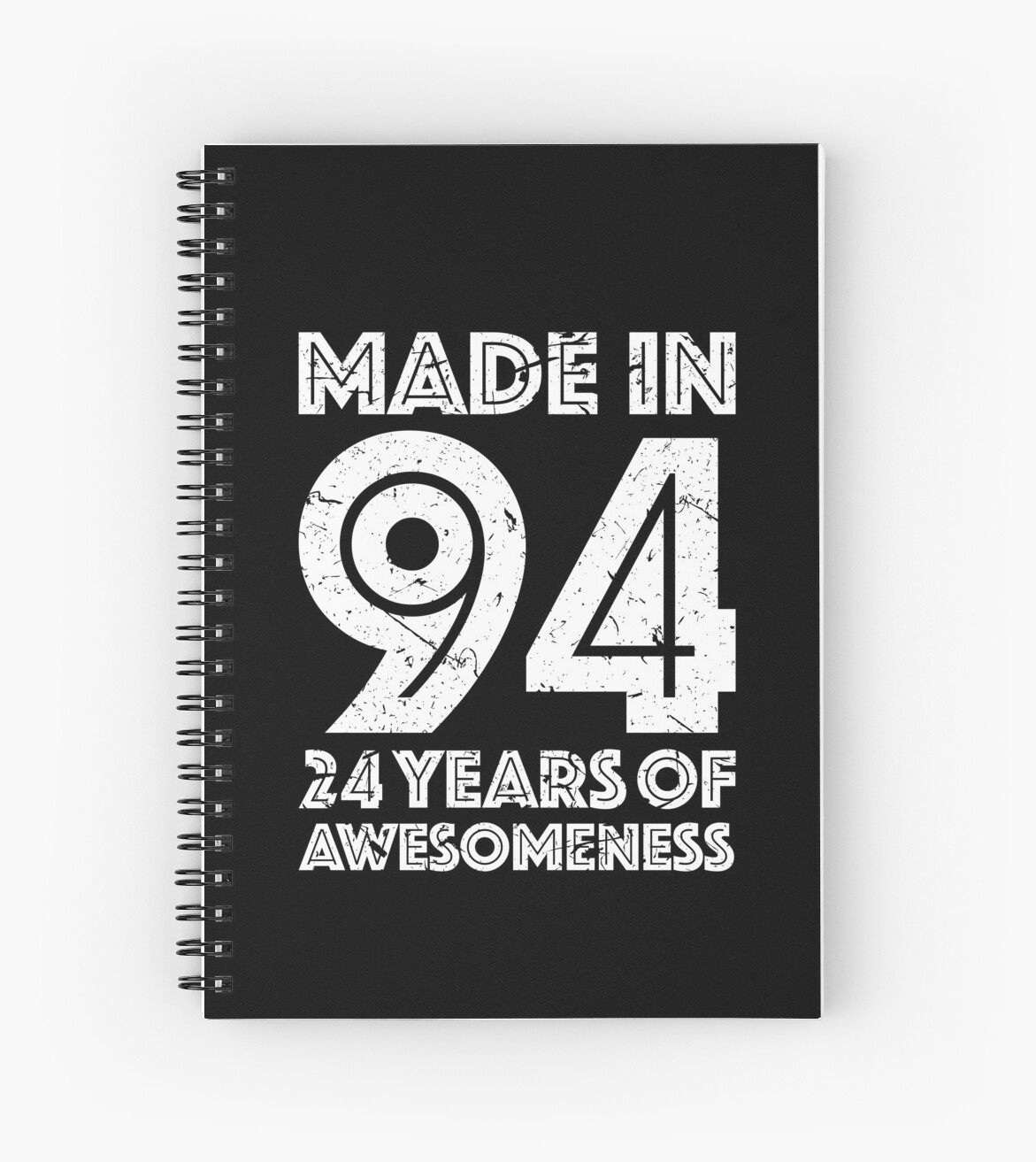 24th Birthday Gift Adult Age 24 Year Old Men Women Spiral Notebooks
