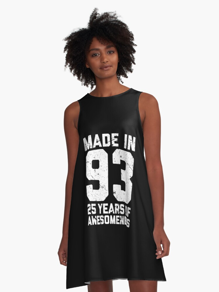 25th Birthday Gift Adult Age 25 Year Old Men Women A Line Dress By Mattlok