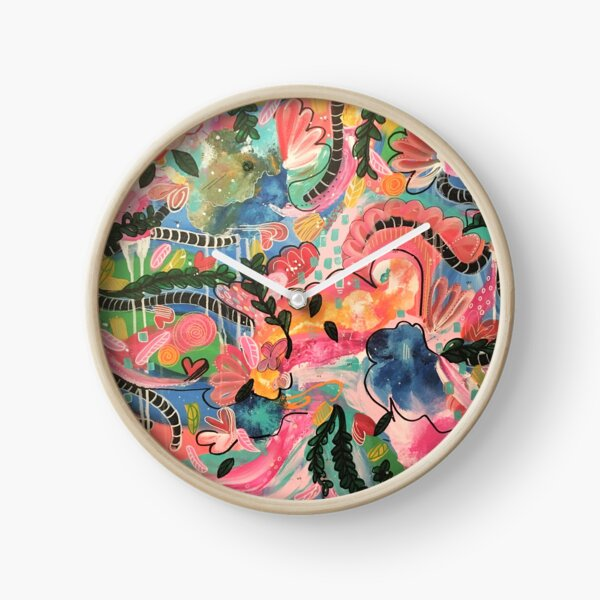 Indie Abstract colorbomb Clock