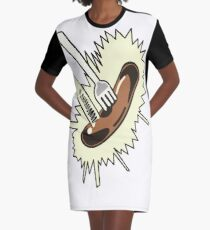 Unexpected Sausage Graphic T-Shirt Dress