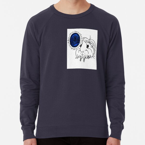 Danger Drew and the Bug in a Sapphire Lightweight Sweatshirt