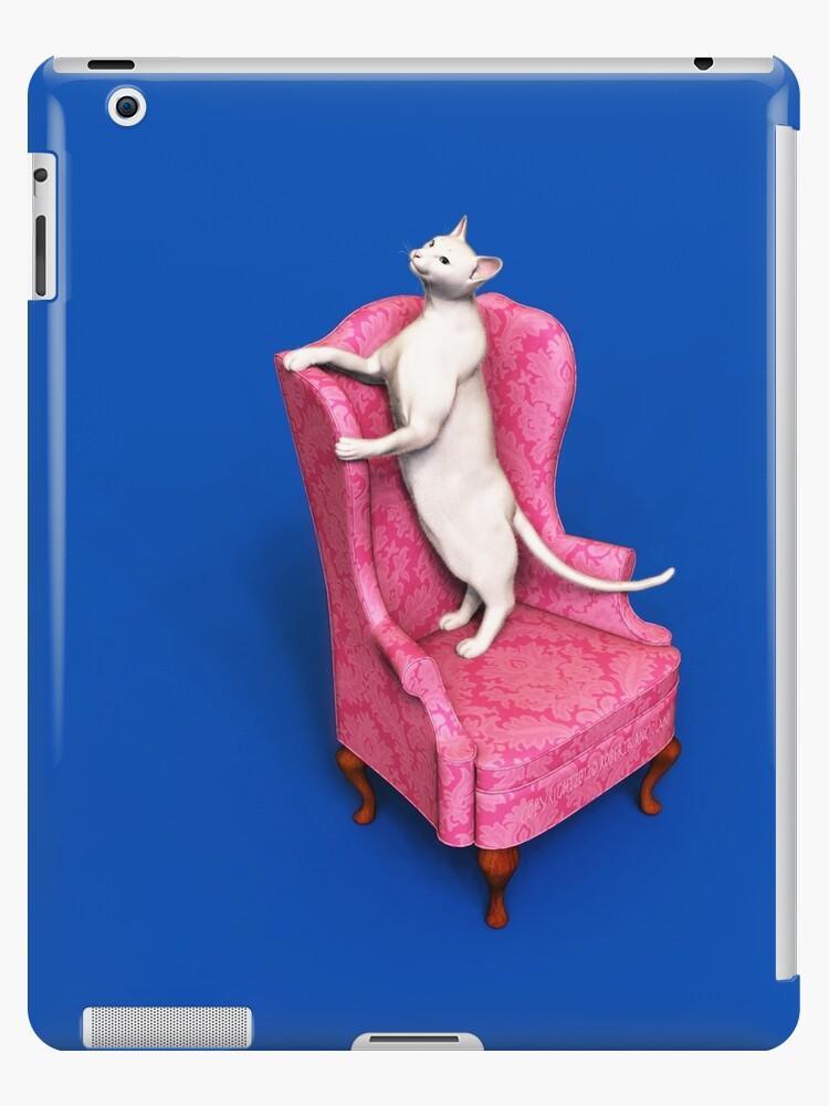 Oriental Cat on Armchair by Roberta Angiolani