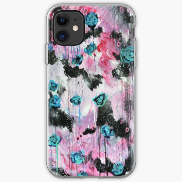 Spiraling roses iPhone Soft Case