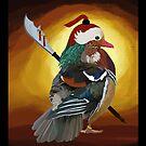 Warrior Duck by artsandherbs
