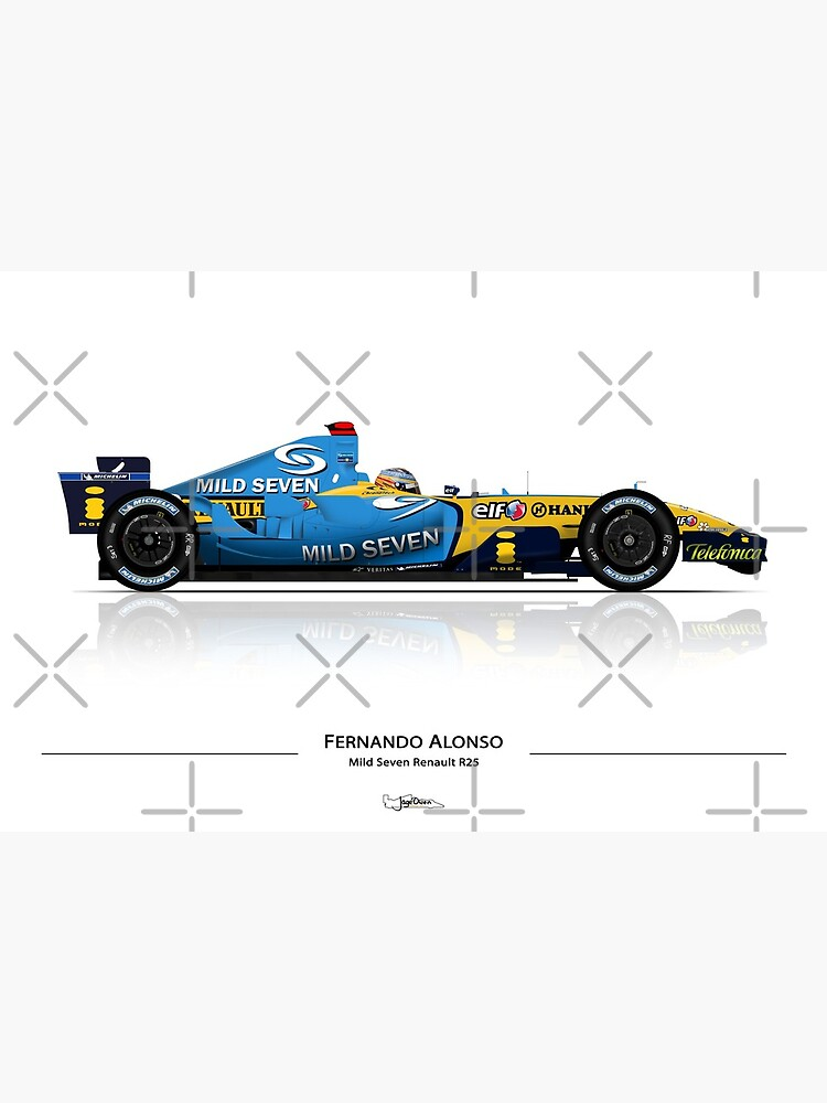 Mild Seven Vintage Fernando Alonso F1 Mug //// Renault R25 Formula One 5 Elf