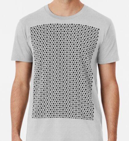 Hexagonal Weave Pattern Black & White 001 Premium T-Shirt