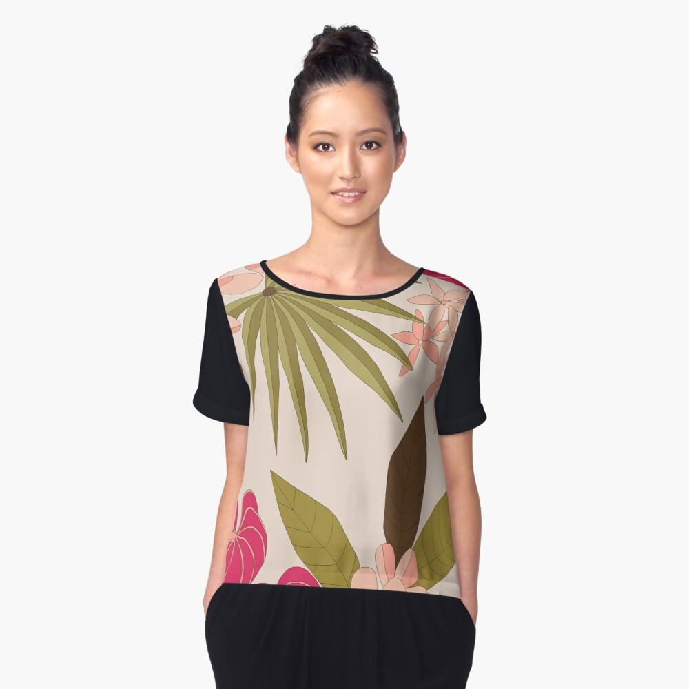 Honolulu Women's Chiffon Top Front