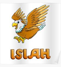 Isiah Eagle Sticker Poster