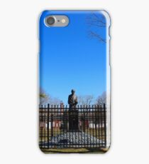 Statue Of Nikola Tesla In Front Of Wardenclyffe Laboratory Building | Shoreham, New York iPhone Case/Skin