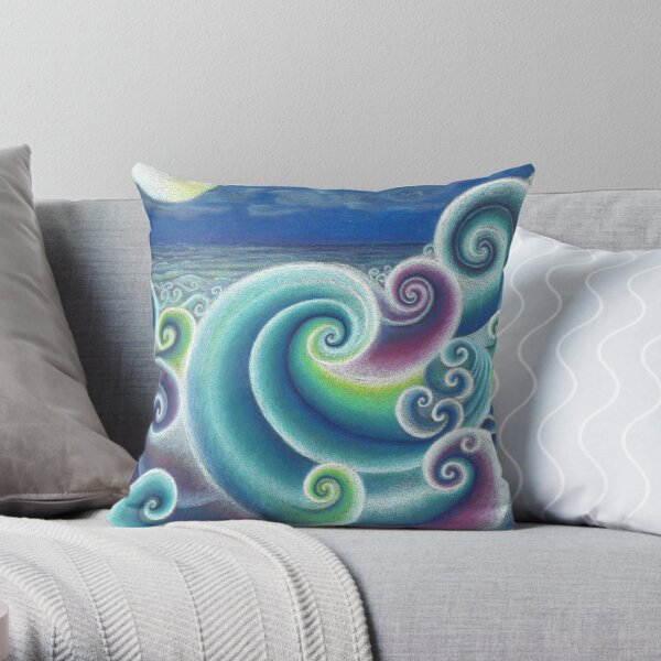 Fibonacci's Sea Throw Pillow