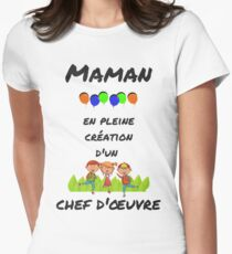 Mom in Full Creation Women's Fitted T-Shirt